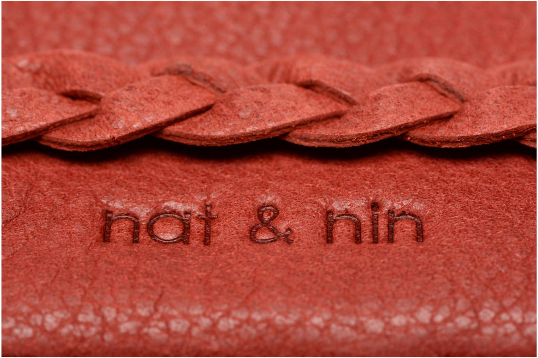 Petite Maroquinerie Nat & Nin Lilou Rouge vue gauche