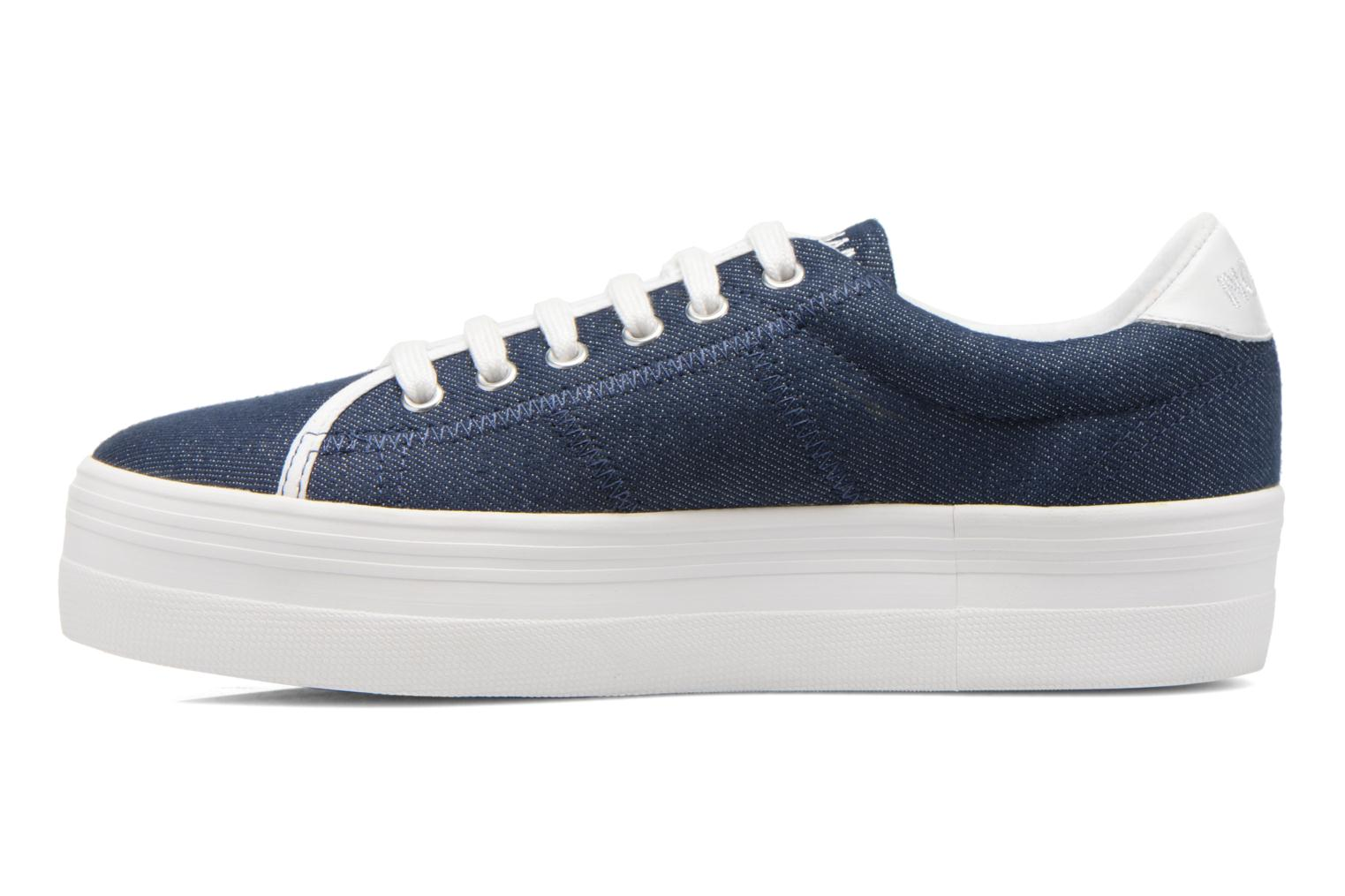 Sneakers No Name Plato Sneaker Strass Blauw voorkant