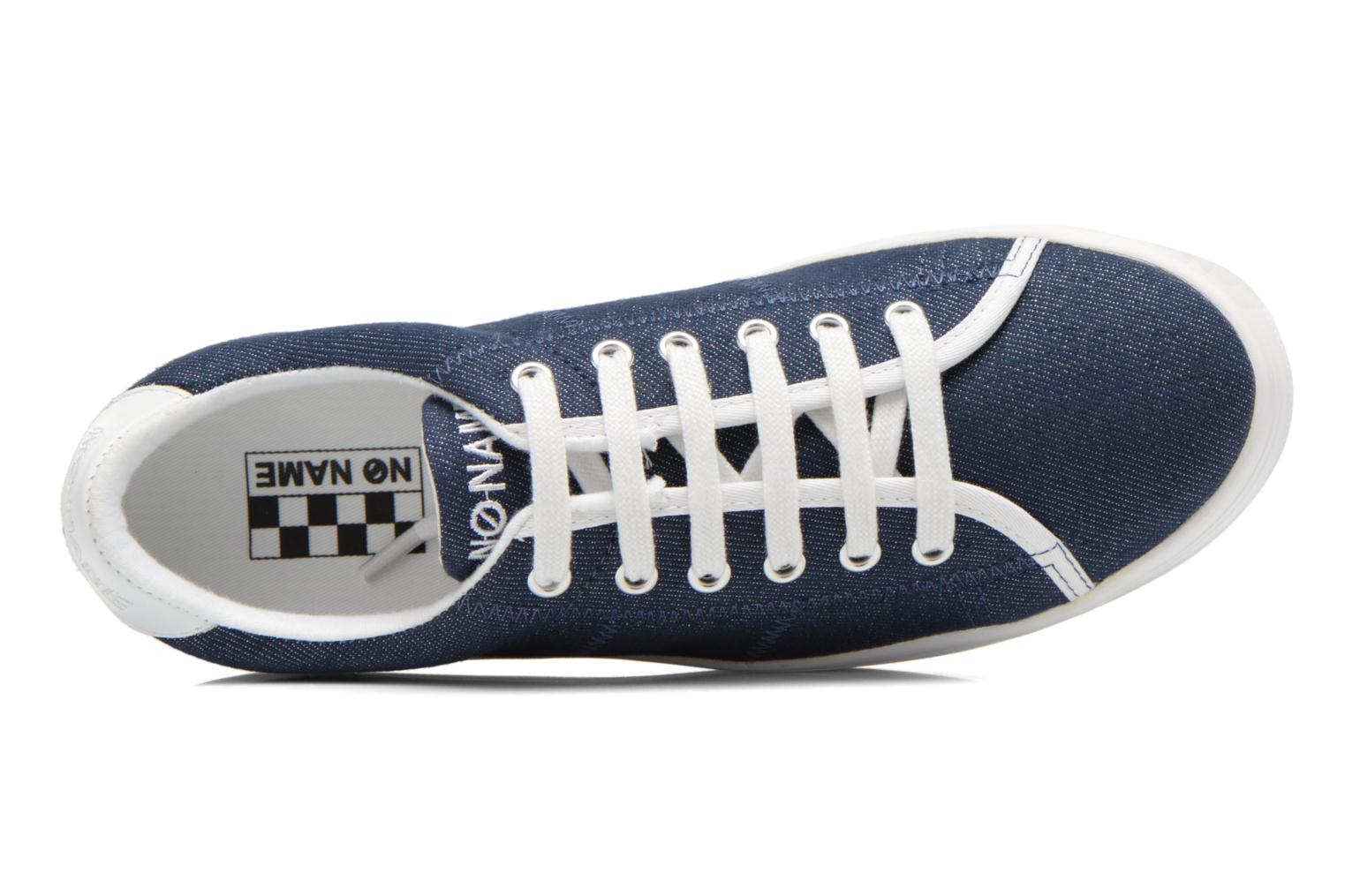 Baskets No Name Plato Sneaker Strass Bleu vue gauche
