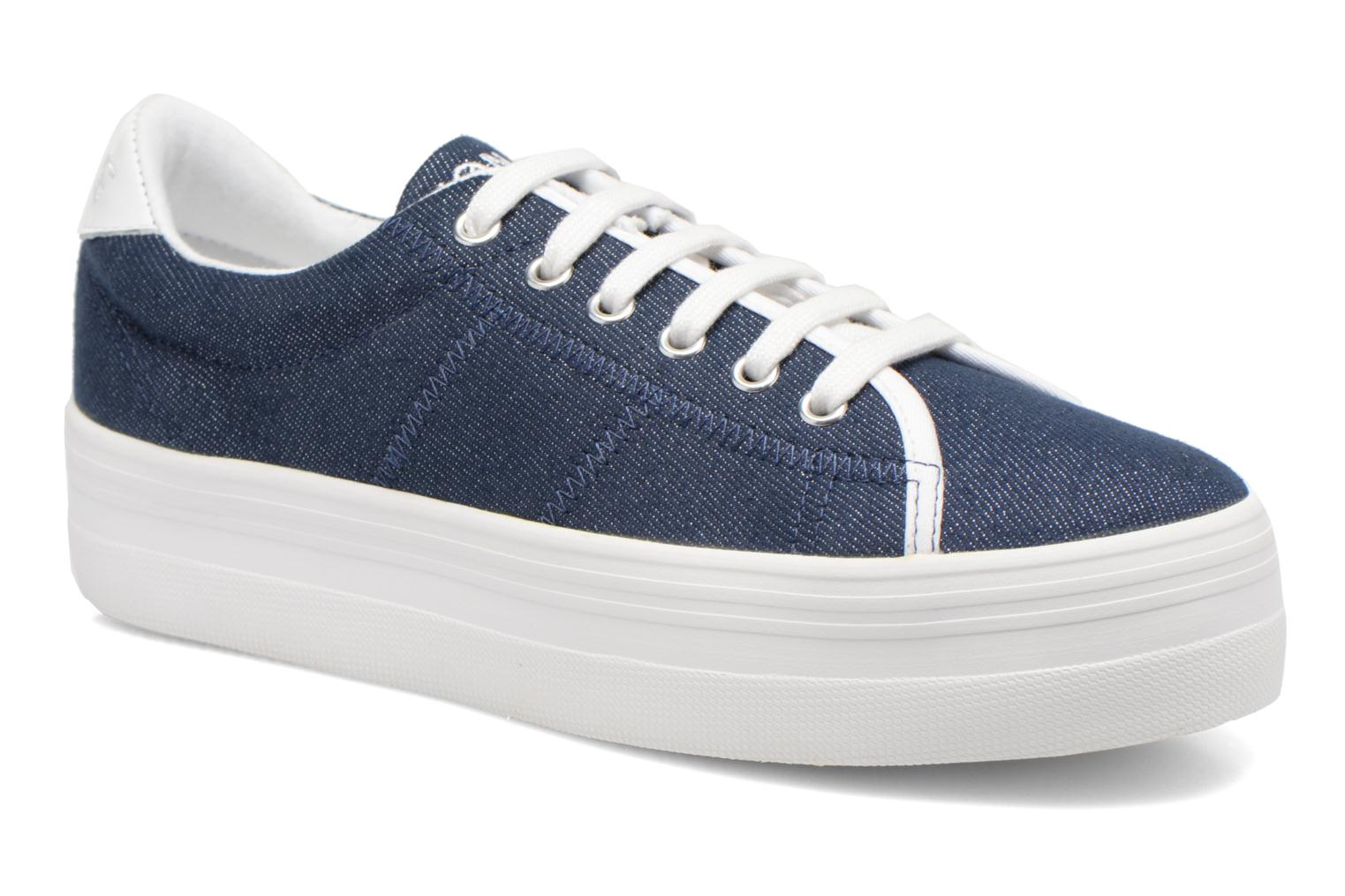 Sneakers No Name Plato Sneaker Strass Blauw detail