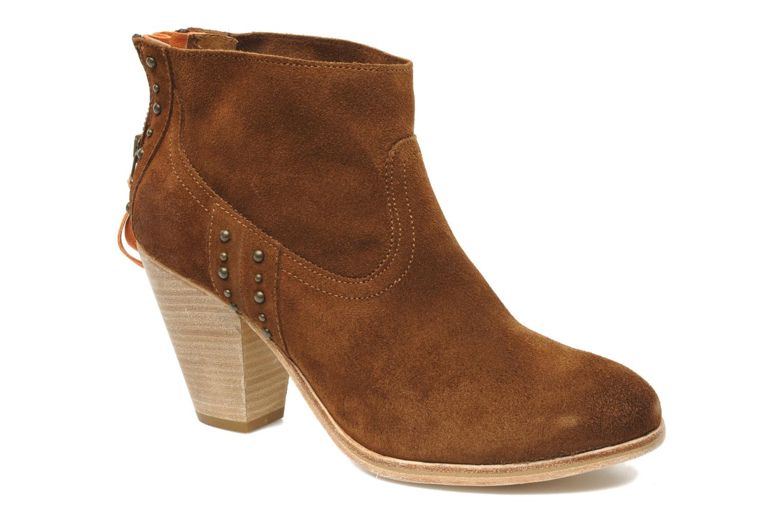 Boots en enkellaarsjes Koah Larissa Bruin detail
