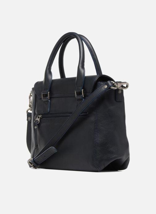 Handtaschen Sabrina Charline blau ansicht von rechts