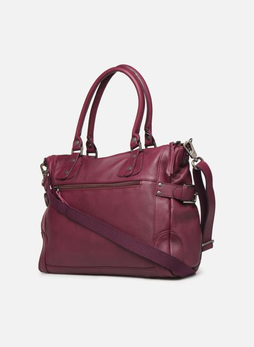 Handbags Sabrina Camille Purple view from the right