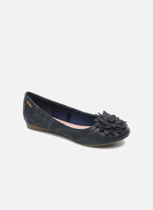 Ballerinaer Refresh Bénilde Blå detaljeret billede af skoene