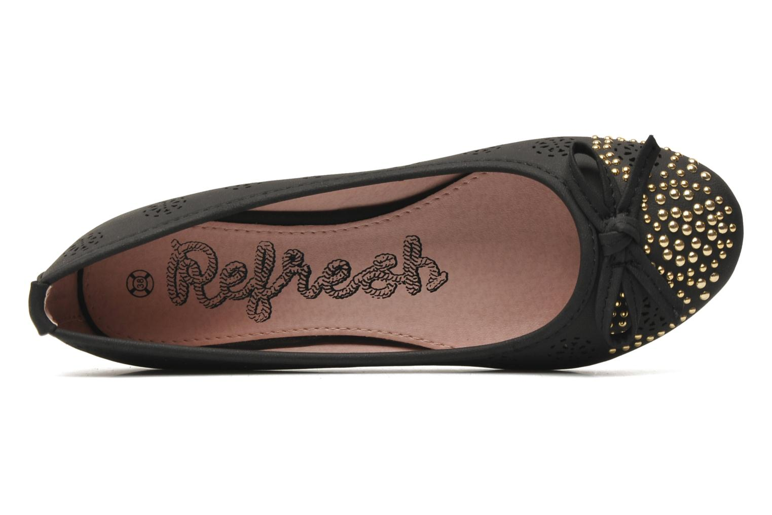 Ballet pumps Refresh Béline Black view from the left