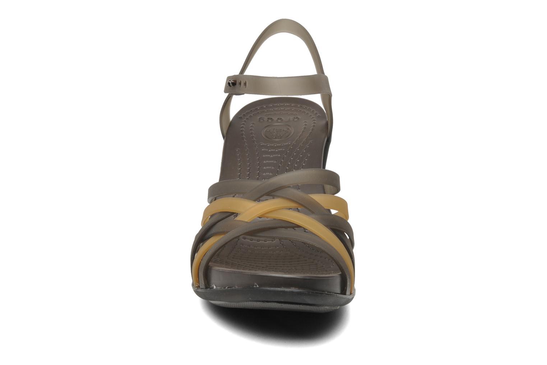Sandals Crocs Huarache Sandal Wedge Black model view