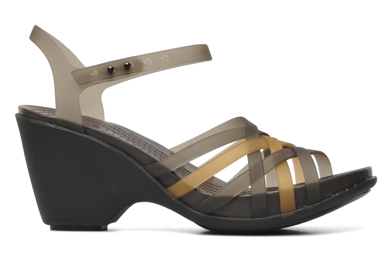 Sandals Crocs Huarache Sandal Wedge Black back view