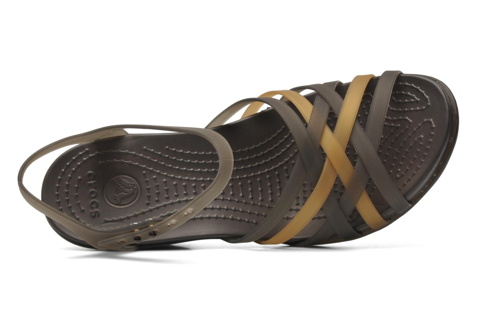 Sandals Crocs Huarache Sandal Wedge Black view from the left