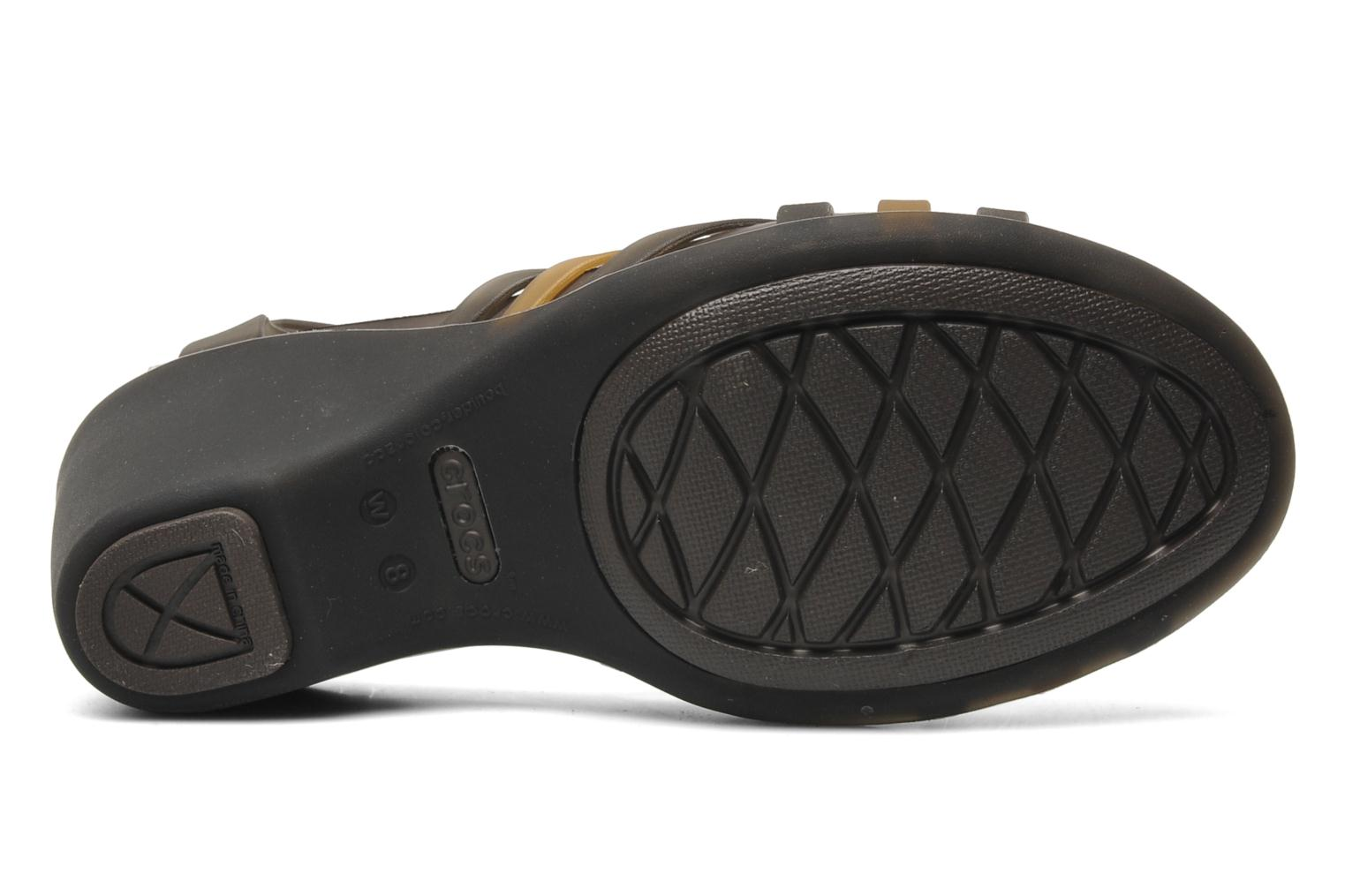 Sandals Crocs Huarache Sandal Wedge Black view from above