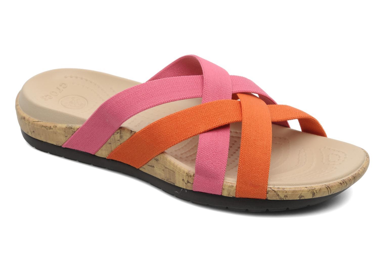 Wedges Crocs Crocs Edie Stretch Sandal W Roze detail