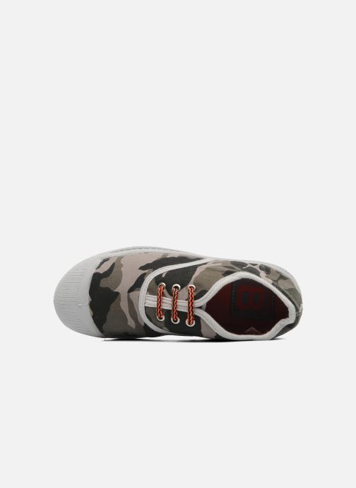 Trainers Bensimon Tennis Camofluo E Green view from the left