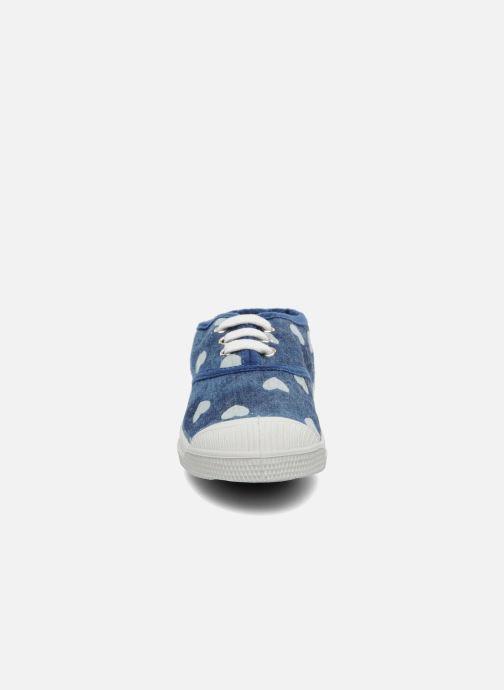 Sneakers Bensimon Tennis Bleachylove E Azzurro modello indossato