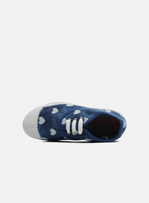 Trainers Bensimon Tennis Bleachylove E Blue view from the left