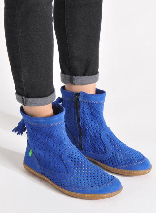 Stiefeletten & Boots El Naturalista El Viajero N262 W blau ansicht von unten / tasche getragen