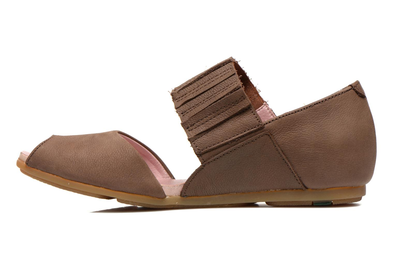 Sandals El Naturalista Stella 030 Brown front view