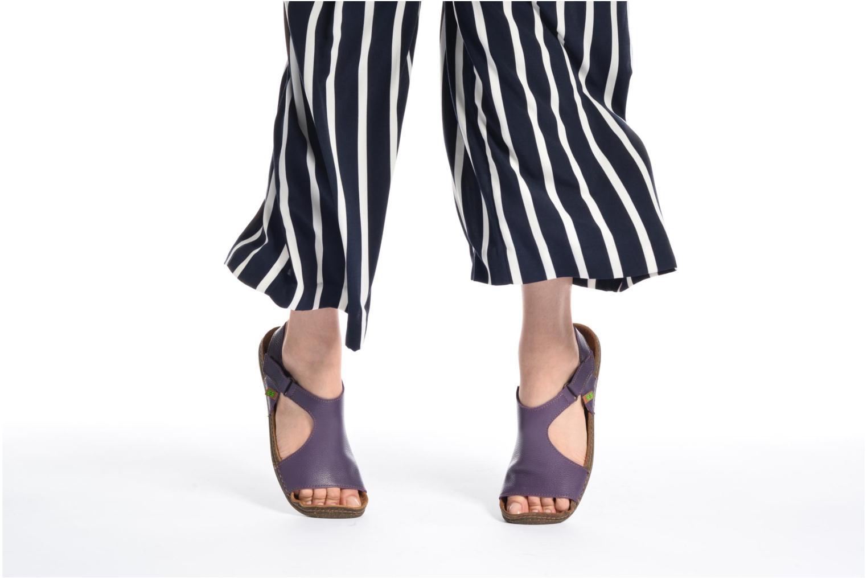 Sandales et nu-pieds El Naturalista Torcal N309 Violet vue bas / vue portée sac