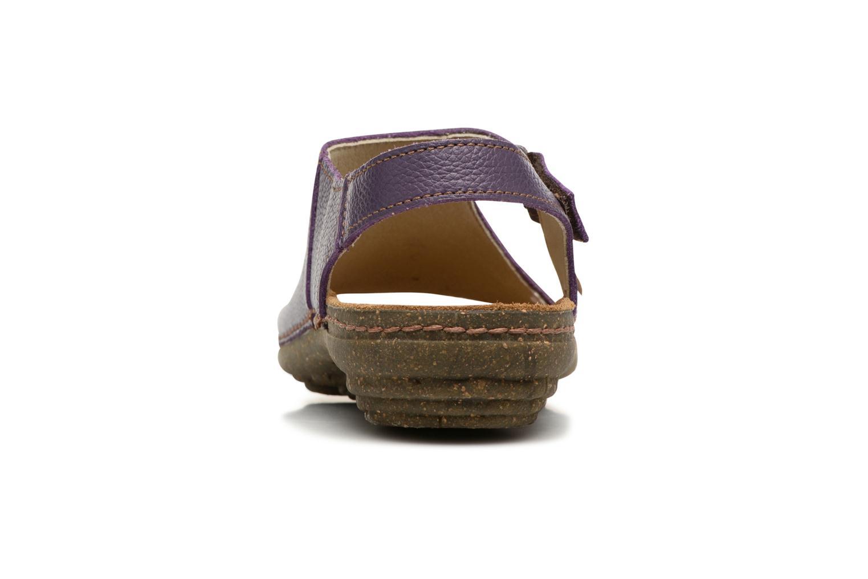 Sandales et nu-pieds El Naturalista Torcal N309 Violet vue droite