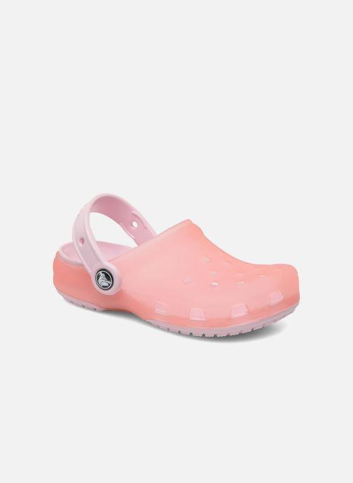 5522d936b0275 Sandals Crocs Crocs Chameleons TM Translucent Clog Kids Pink detailed view   Pair view