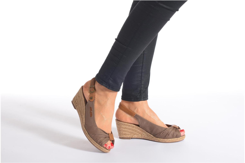 Sandales et nu-pieds Tom Tailor Tany Marron vue bas / vue portée sac