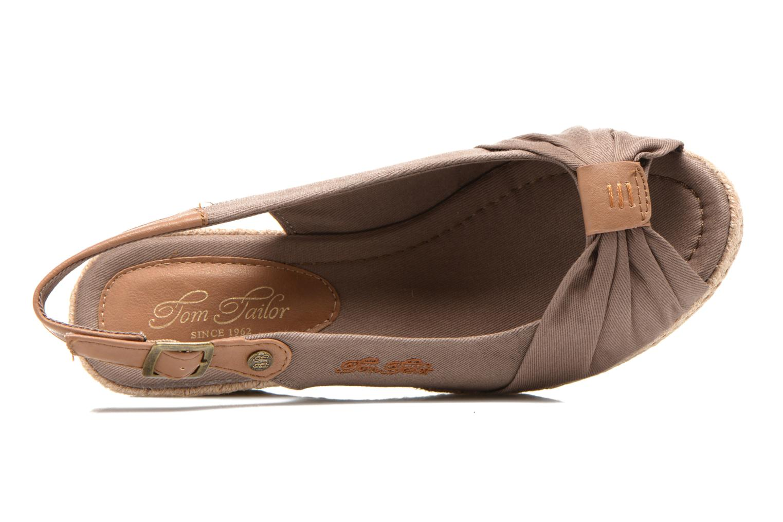 Sandales et nu-pieds Tom Tailor Tany Marron vue gauche