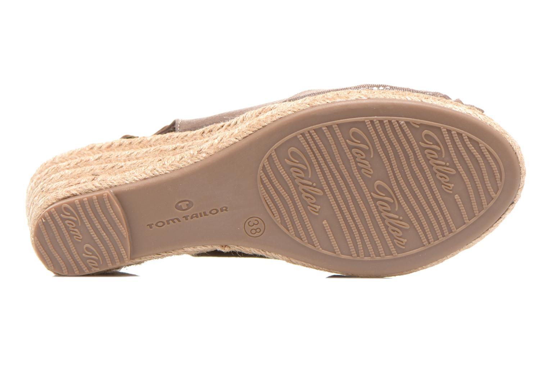 Sandales et nu-pieds Tom Tailor Tany Marron vue haut