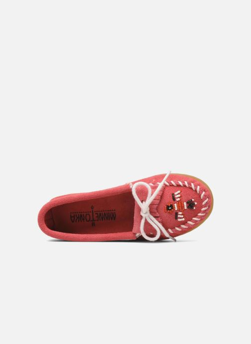 Loafers Minnetonka Thunderbird II Moc G Pink view from the left