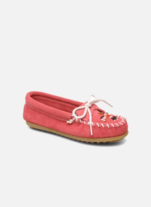 Loafers Minnetonka Thunderbird II Moc G Pink detailed view/ Pair view