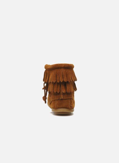 Bottines et boots Minnetonka Double Fringe bootie G Marron vue droite