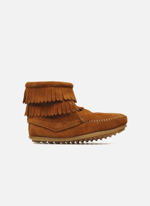 Bottines et boots Minnetonka Double Fringe bootie G Marron vue derrière