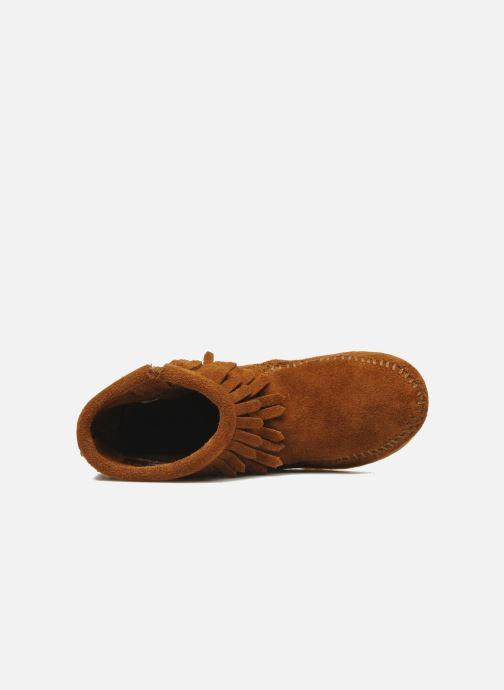 Stiefeletten & Boots Minnetonka Double Fringe bootie G braun ansicht von links