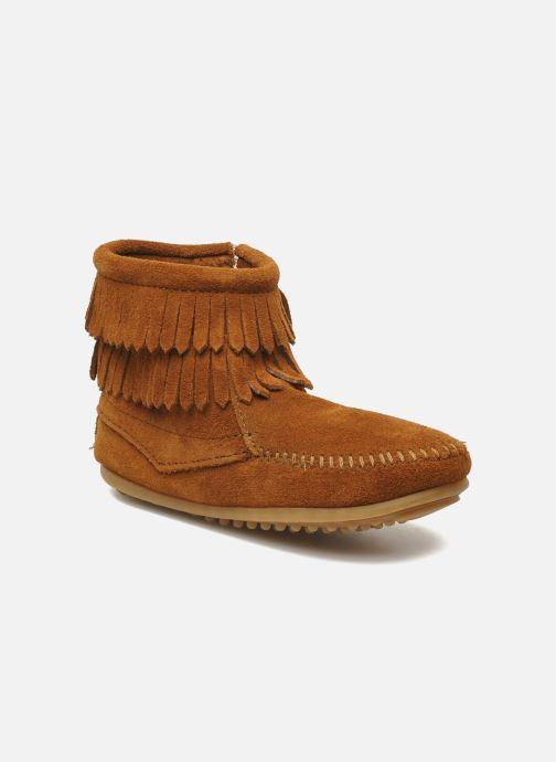 Bottines et boots Minnetonka Double Fringe bootie G Marron vue détail/paire