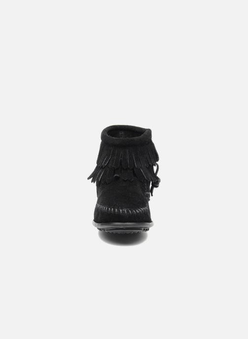 Stiefeletten & Boots Minnetonka Double Fringe bootie G schwarz schuhe getragen