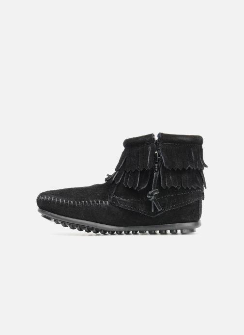 Bottines et boots Minnetonka Double Fringe bootie G Noir vue face