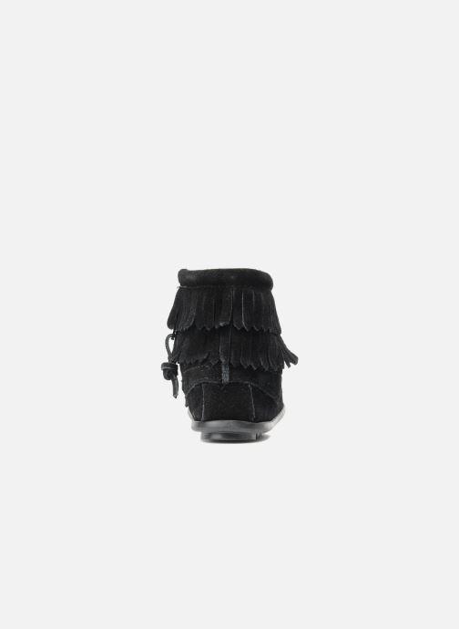 Bottines et boots Minnetonka Double Fringe bootie G Noir vue droite