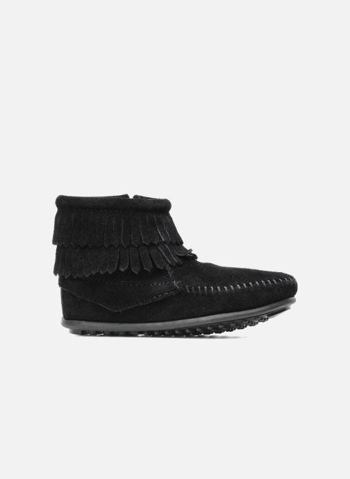 Stiefeletten & Boots Minnetonka Double Fringe bootie G schwarz ansicht von hinten