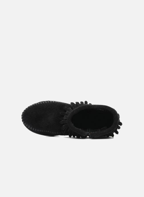 Bottines et boots Minnetonka Double Fringe bootie G Noir vue gauche
