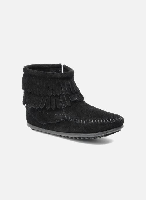 Bottines et boots Minnetonka Double Fringe bootie G Noir vue détail/paire
