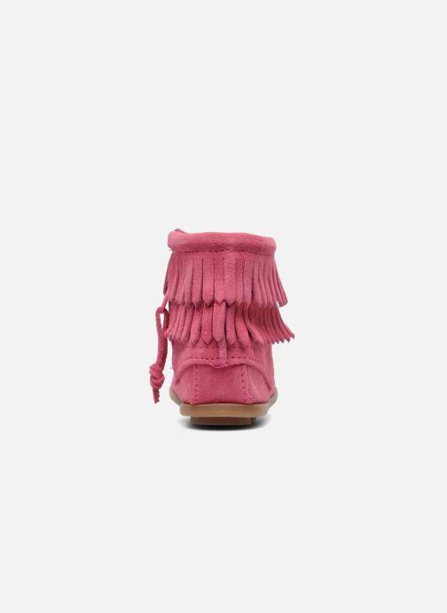 Bottines et boots Minnetonka Double Fringe bootie G Rose vue droite