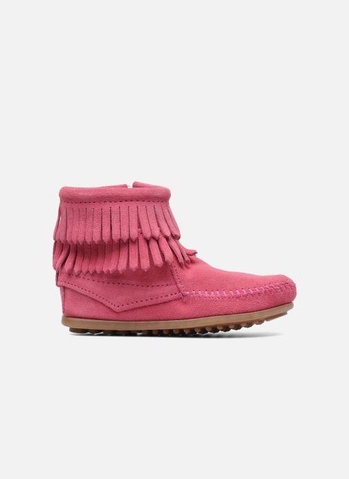 Bottines et boots Minnetonka Double Fringe bootie G Rose vue derrière