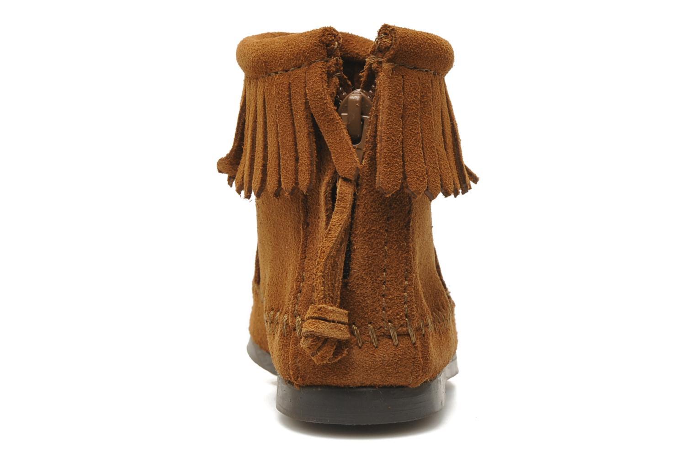Bottines et boots Minnetonka Back Zip bootie G Marron vue droite