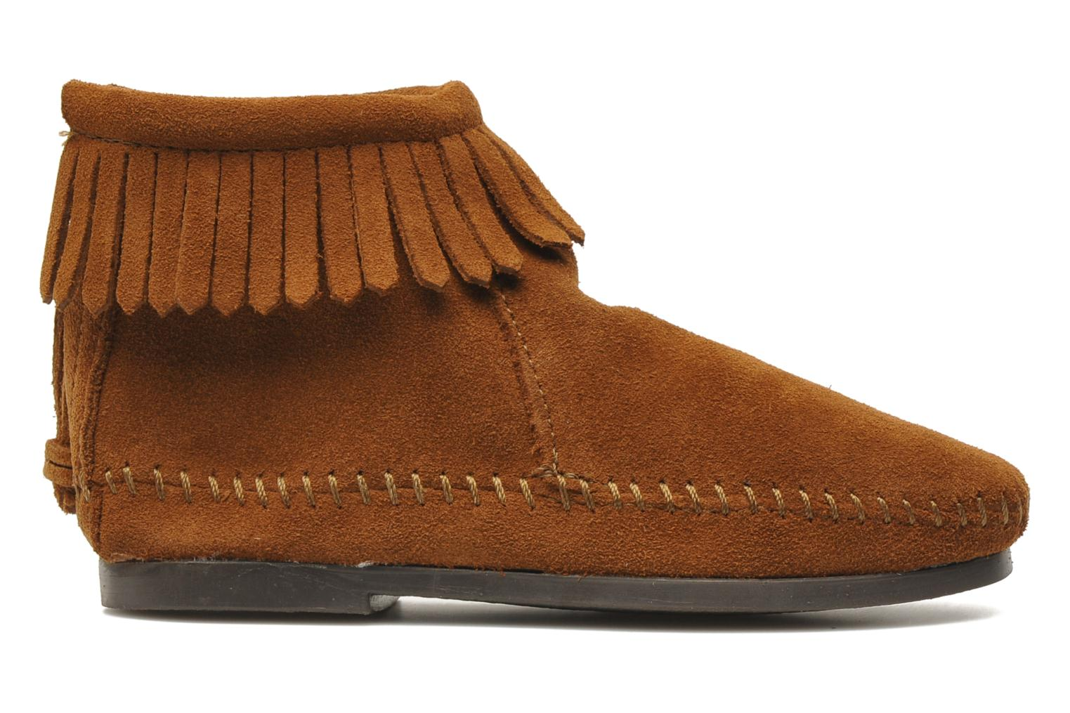 Ankle boots Minnetonka Back Zip bootie G Brown back view