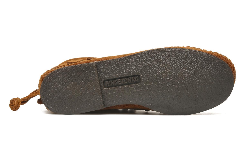 Bottines et boots Minnetonka Back Zip bootie G Marron vue haut
