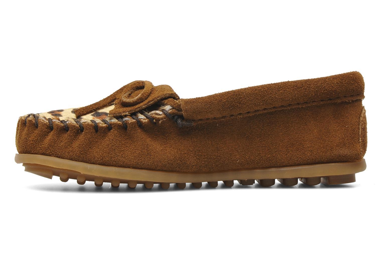 Loafers Minnetonka Leopard Kilty Moc G Brun se forfra