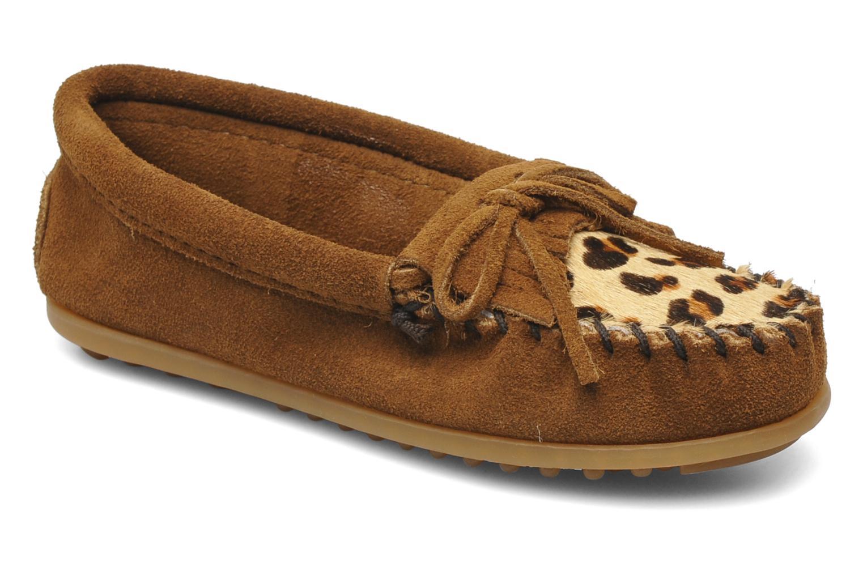 Loafers Minnetonka Leopard Kilty Moc G Brun detaljeret billede af skoene