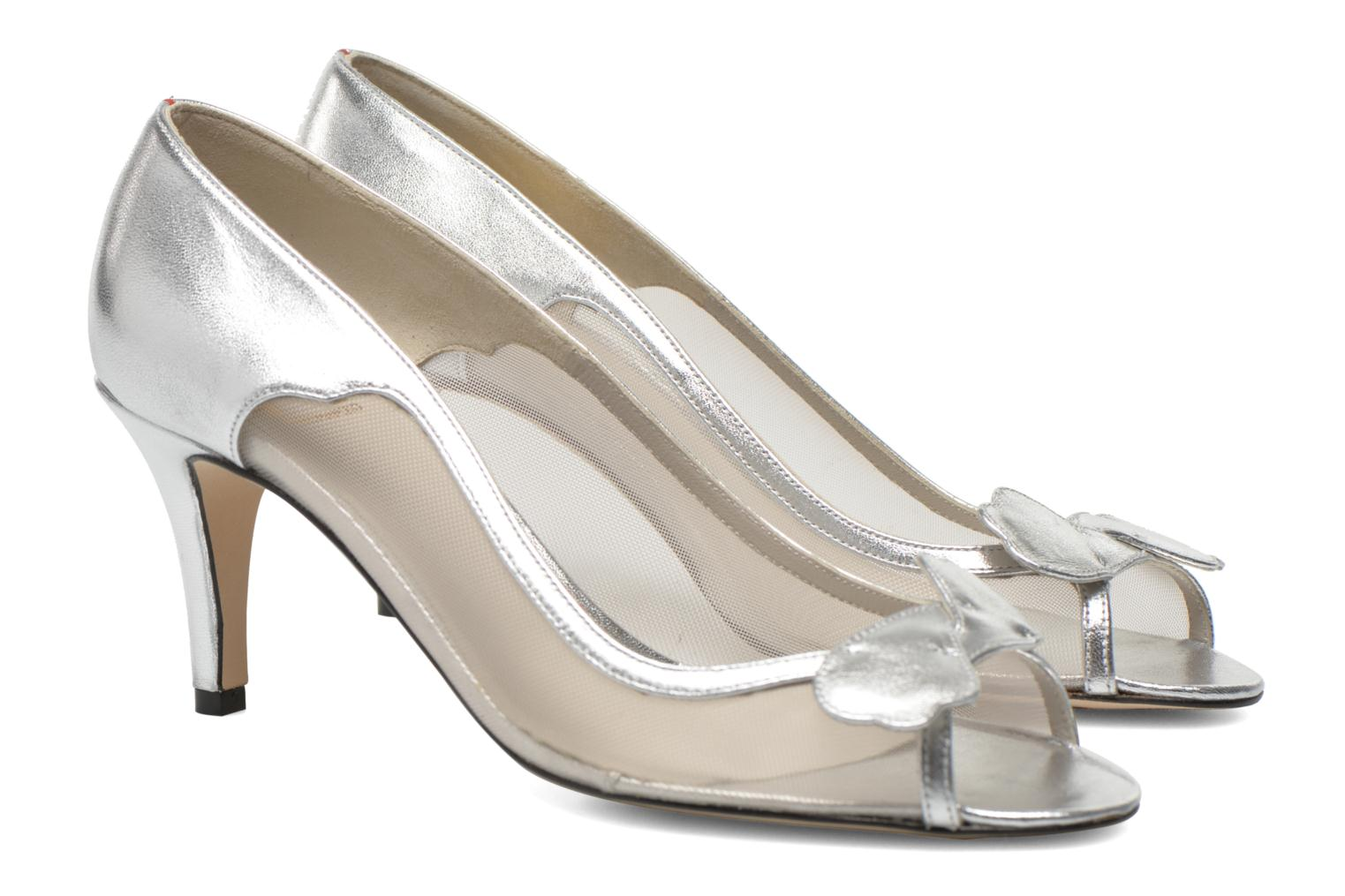 High heels Fred Marzo Maguy Silver 3/4 view