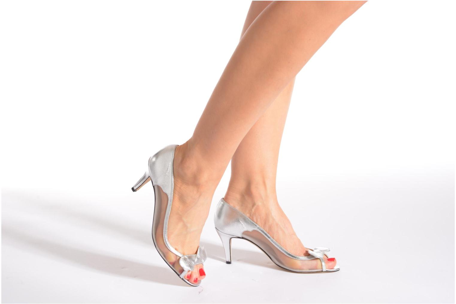 High heels Fred Marzo Maguy Silver view from underneath / model view
