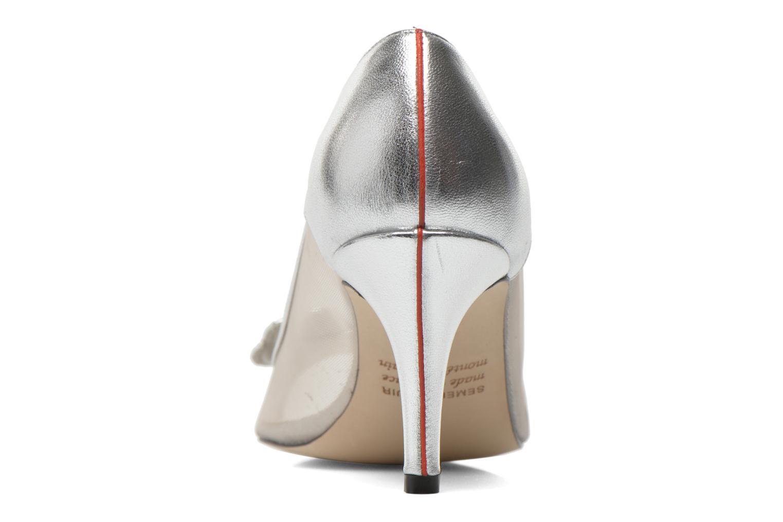 Zapatos de tacón Fred Marzo Maguy Plateado vista lateral derecha