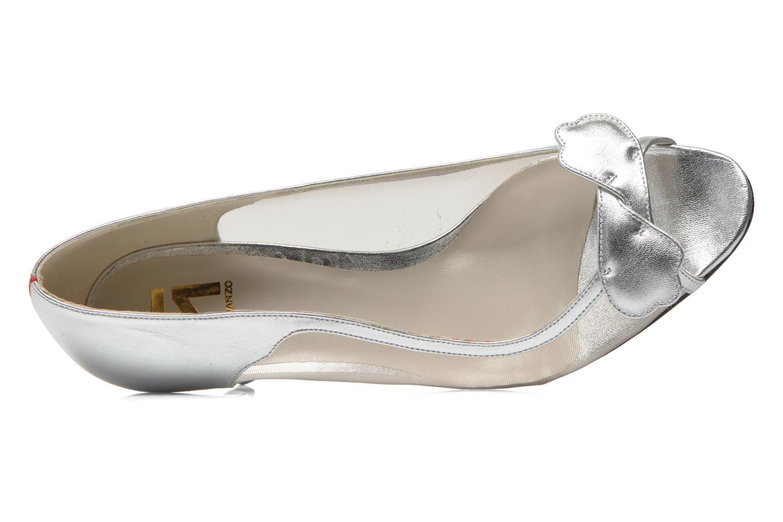 Zapatos de tacón Fred Marzo Maguy Plateado vista lateral izquierda