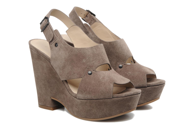 Sandales et nu-pieds See by Chloé Eva Marron vue portées chaussures