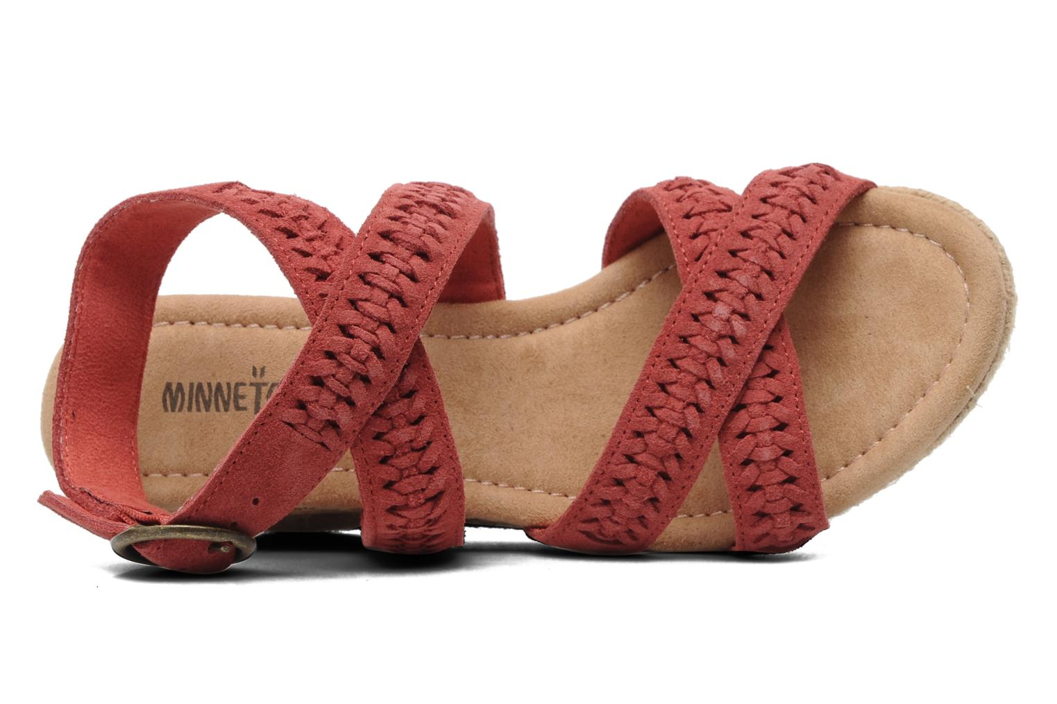 Sandalen Minnetonka Haley rot ansicht von links